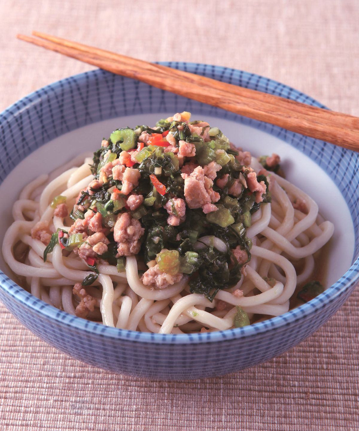 食譜:雪菜肉末涼拌麵