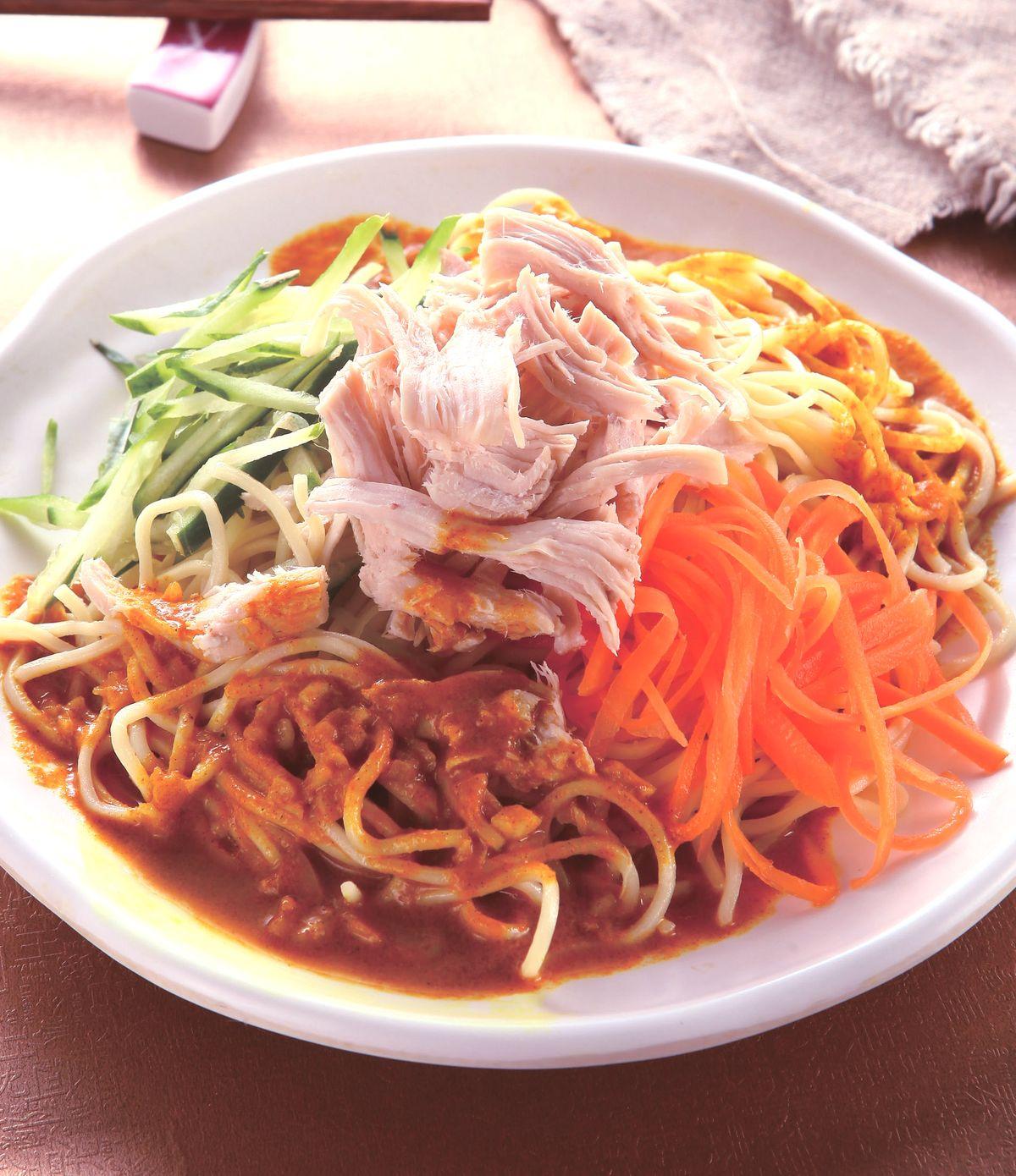 食譜:咖哩涼麵(1)