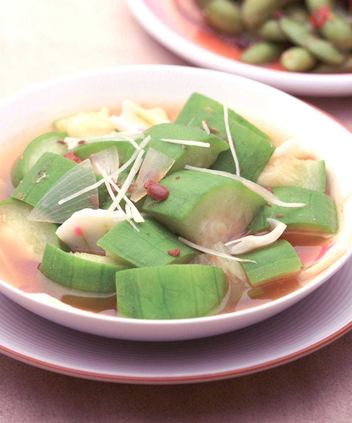 食譜:白甘蔗滷絲瓜