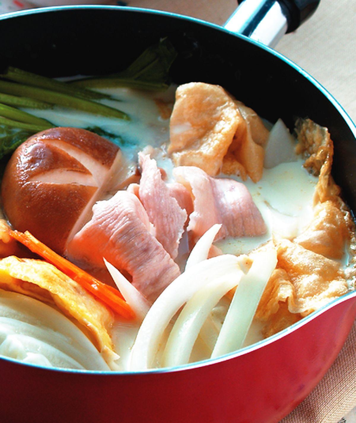 食譜:豆漿白肉鍋