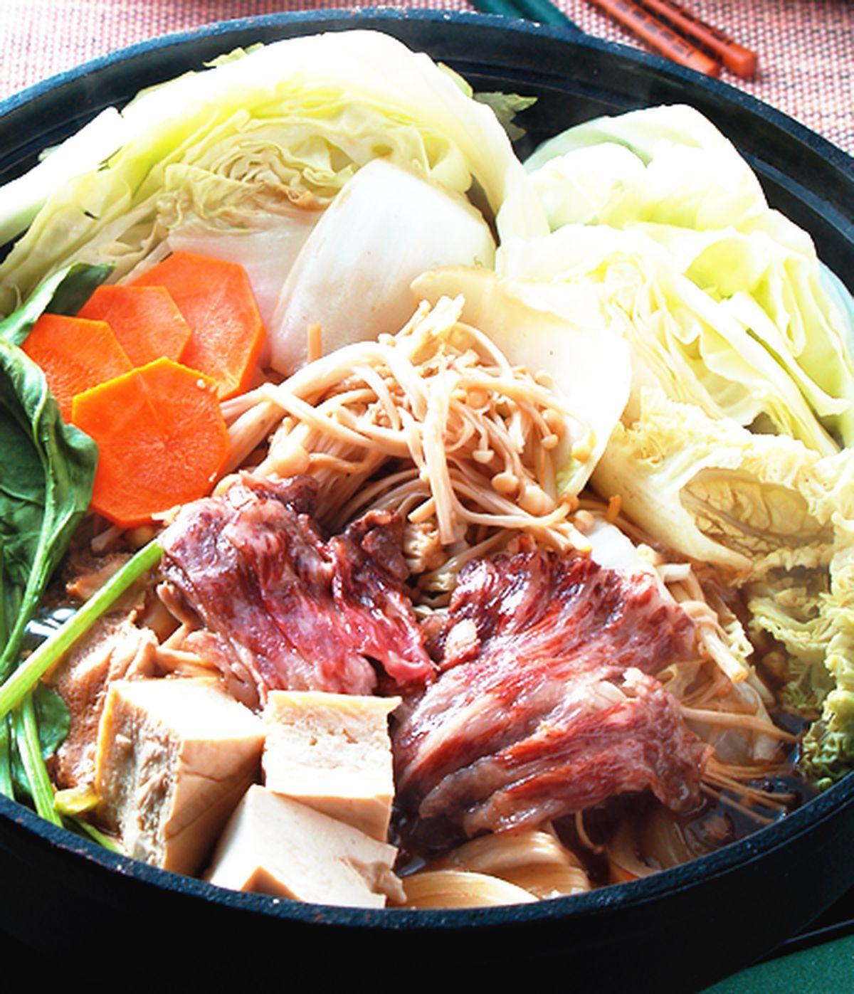 食譜:無骨牛小排壽喜燒