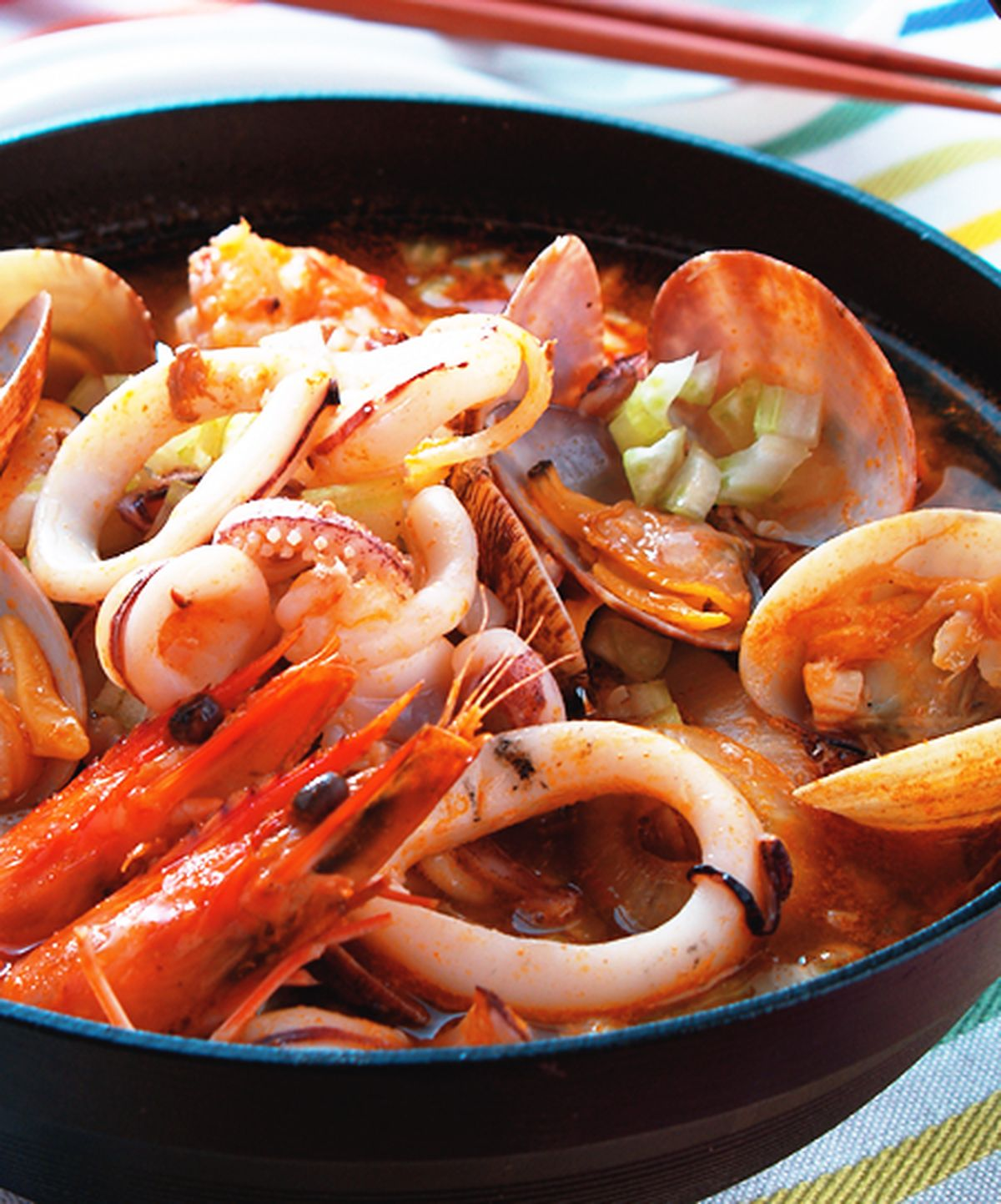 食譜:蕃茄海鮮鍋