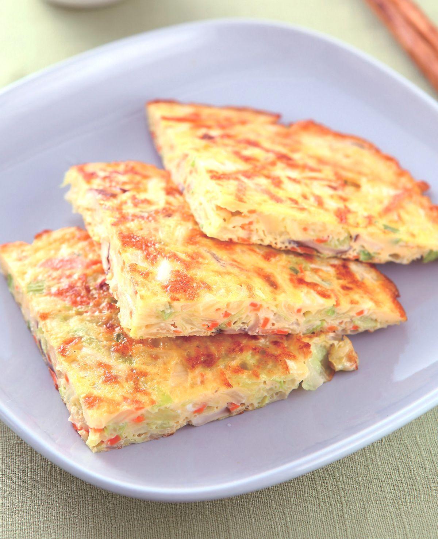 食譜:高麗菜煎蛋餅