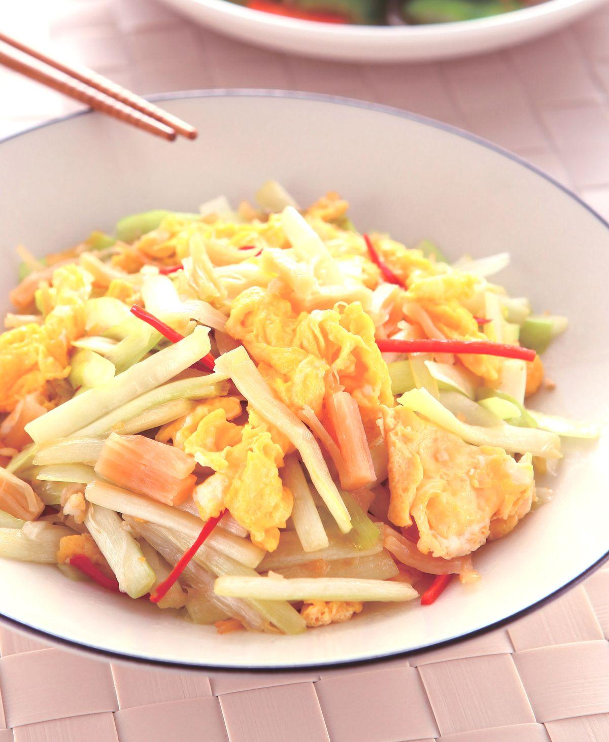 食譜:瑤柱韭黃炒蛋
