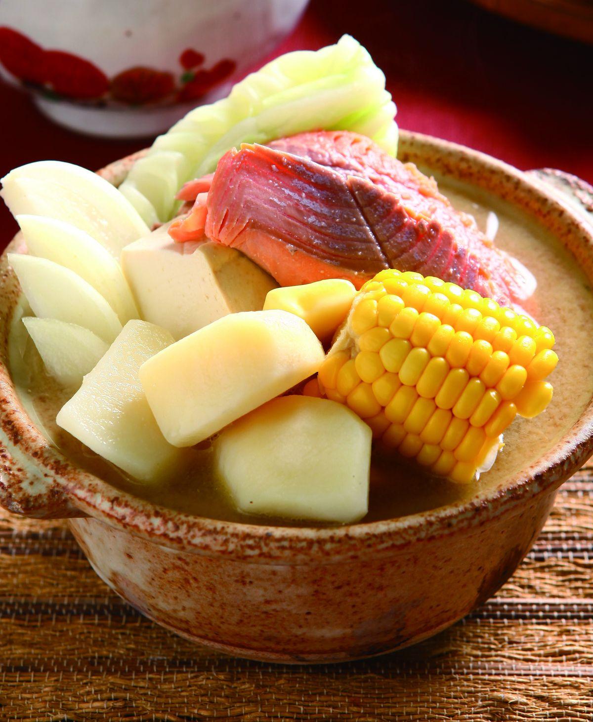 食譜:石狩海鮮鍋