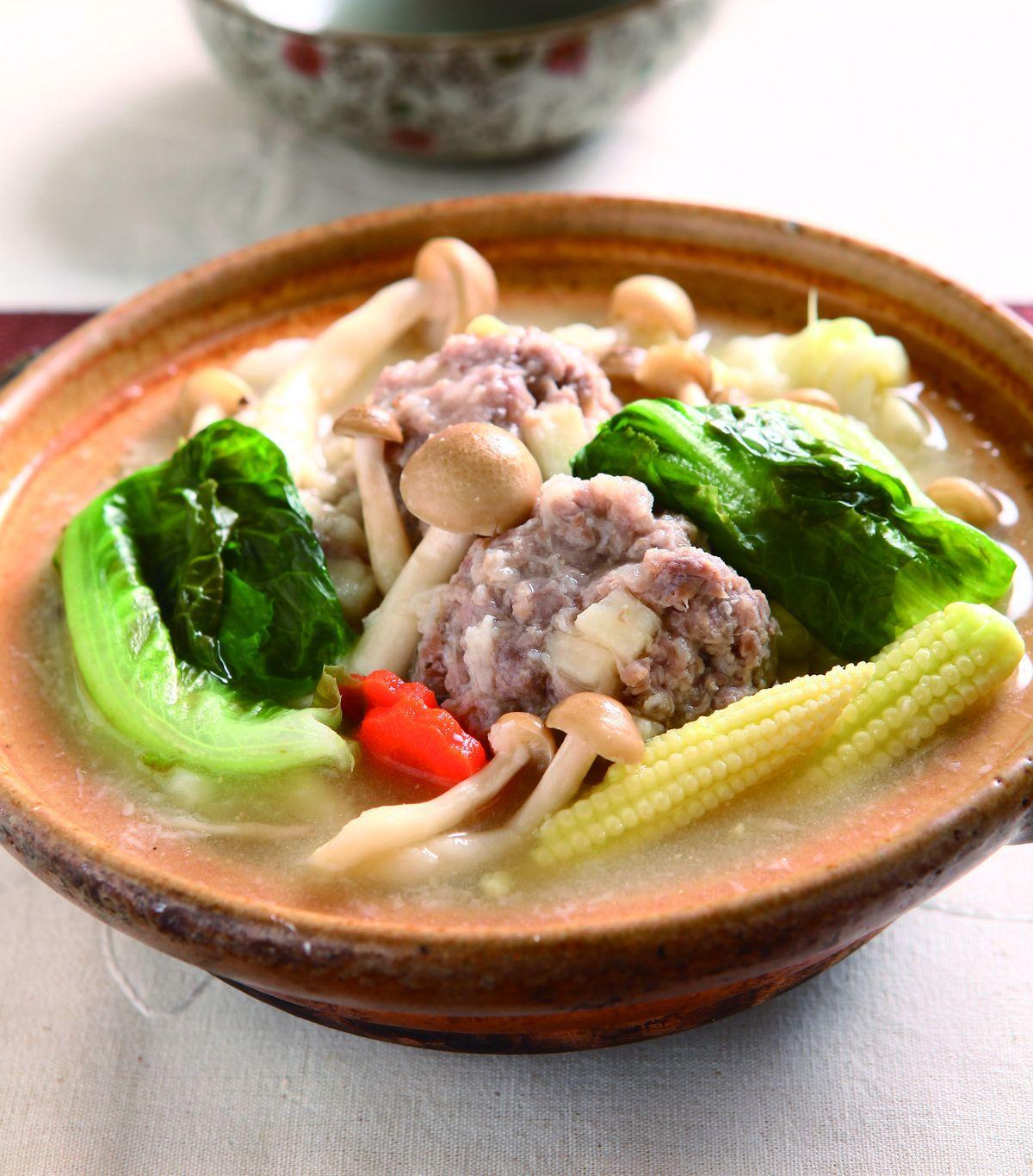 食譜:山藥獅頭鍋