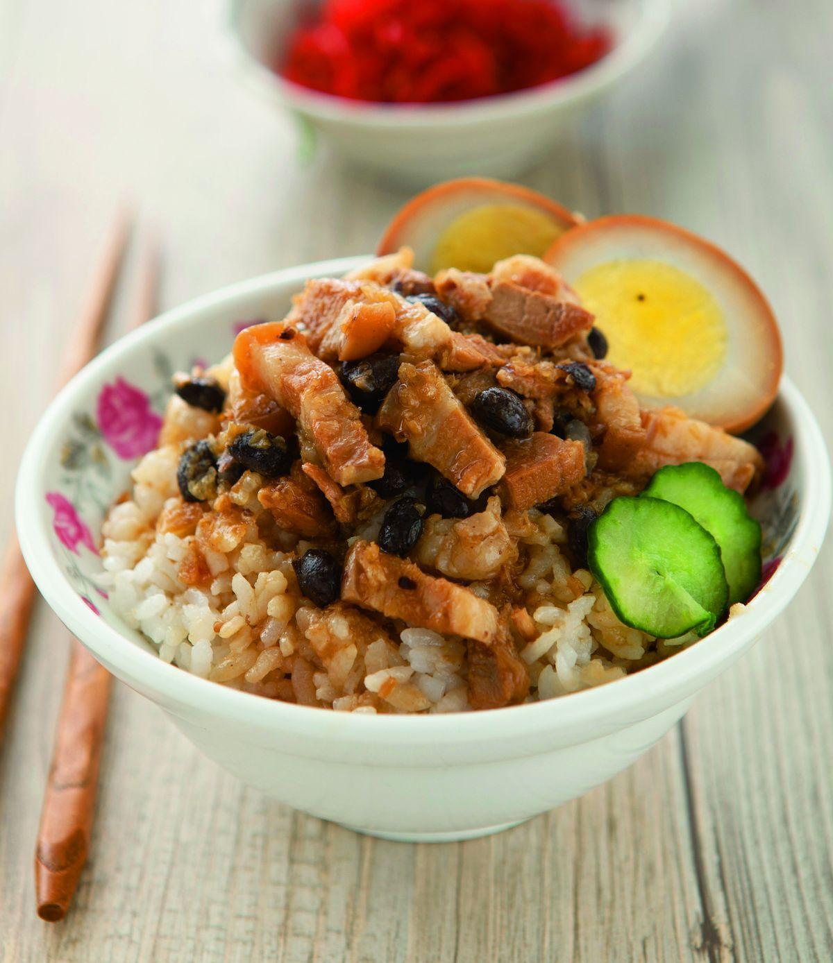 食譜:豆豉滷肉飯