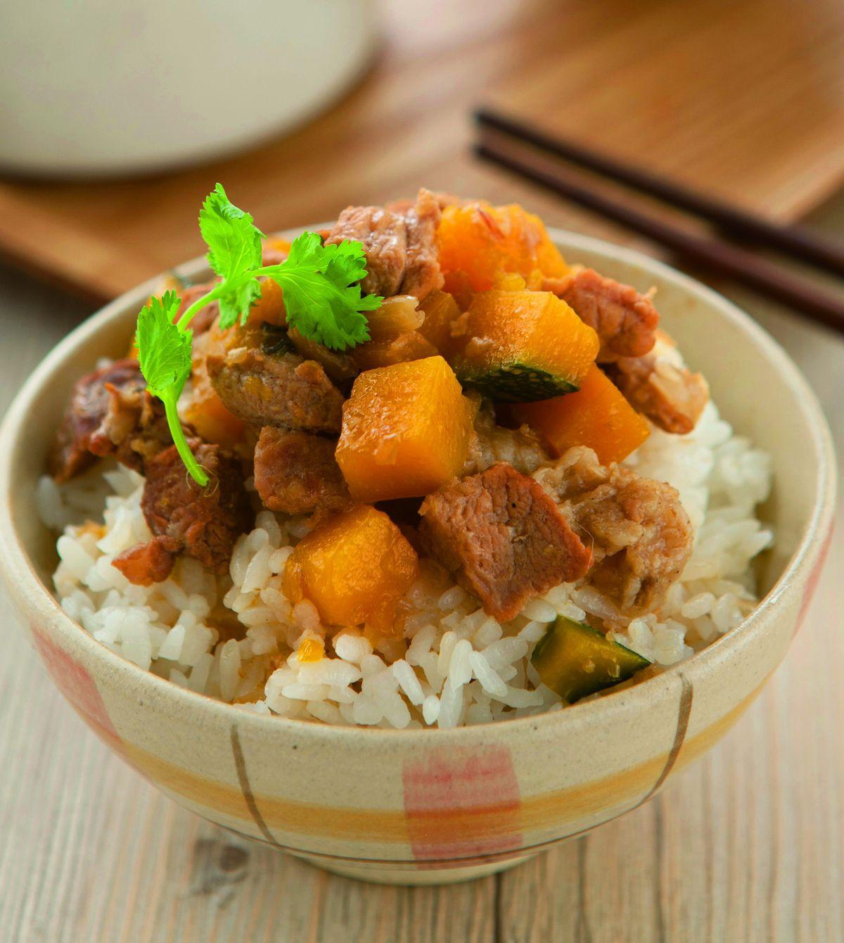 食譜:金瓜滷肉飯