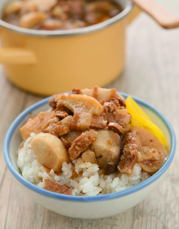 食譜:杏鮑菇滷肉飯