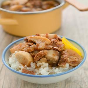 杏鮑菇滷肉飯