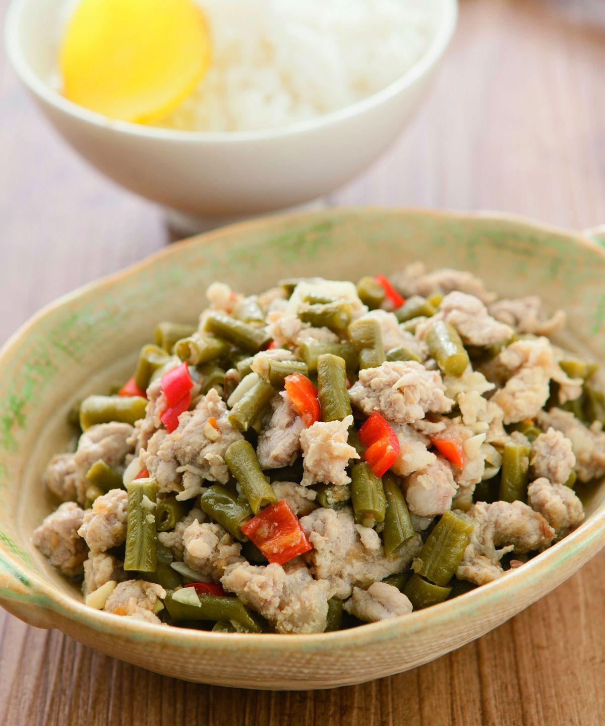 食譜:酸豇豆肉燥飯