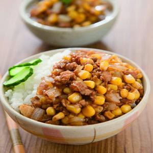 玉米粒肉燥飯