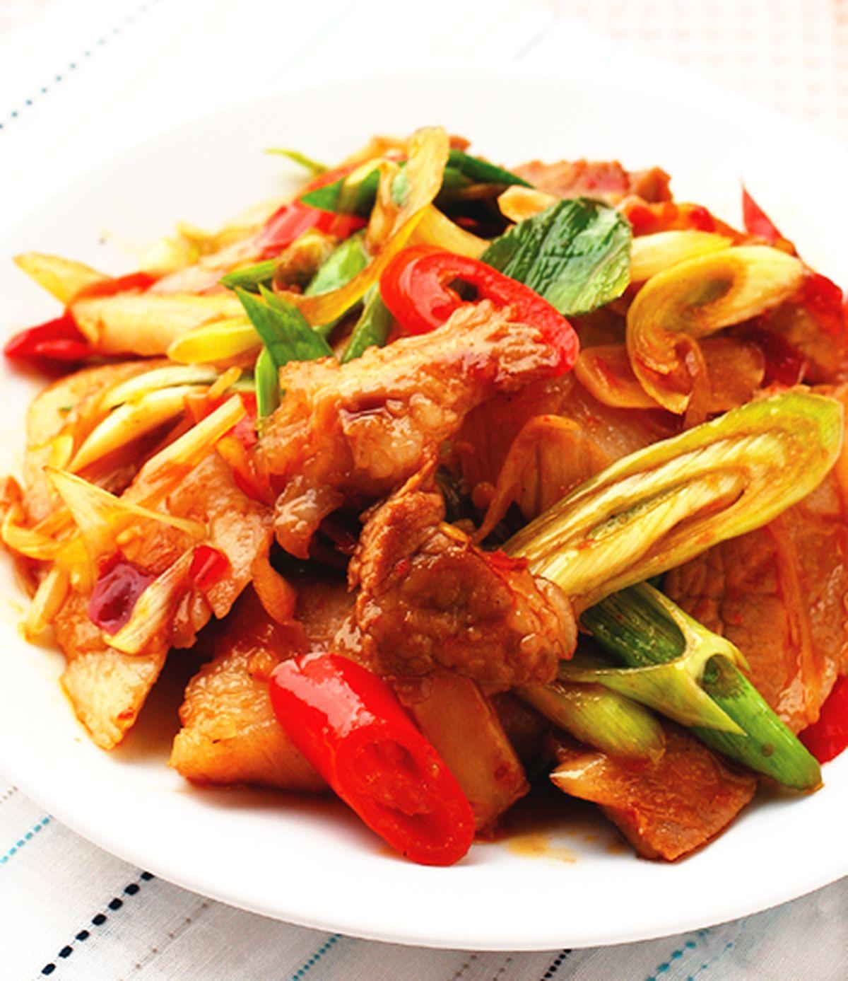 食譜:回鍋肉片
