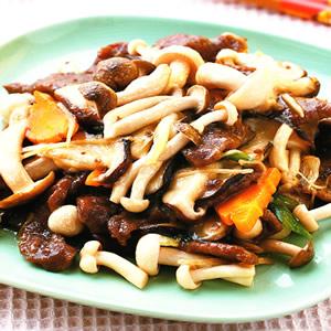菌菇炒牛肉