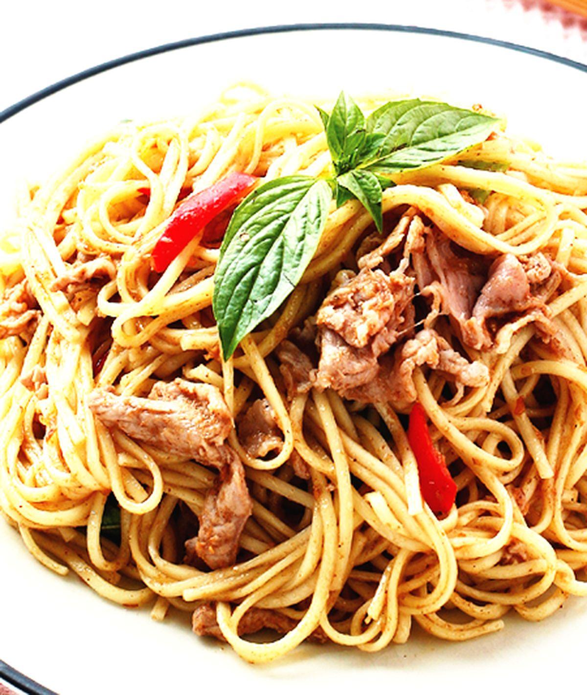 食譜:沙茶羊肉炒麵