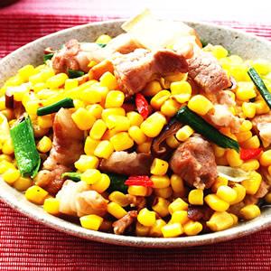 五花肉燴玉米