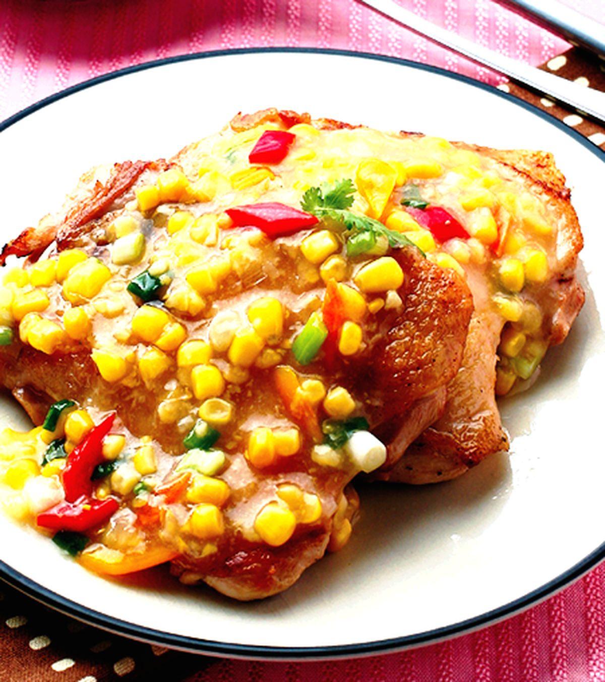 食譜:玉米醬淋雞腿