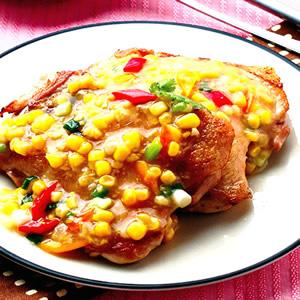 玉米醬淋雞腿