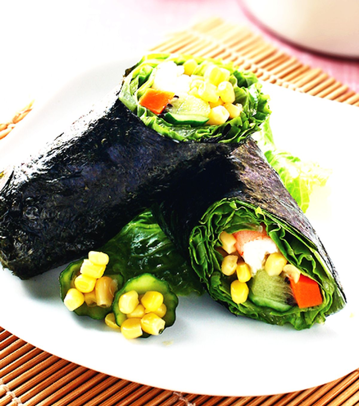 食譜:玉米海苔捲