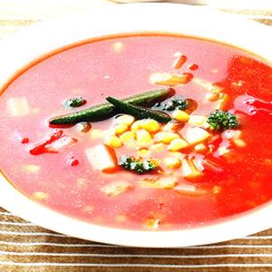 時蔬蕃茄湯