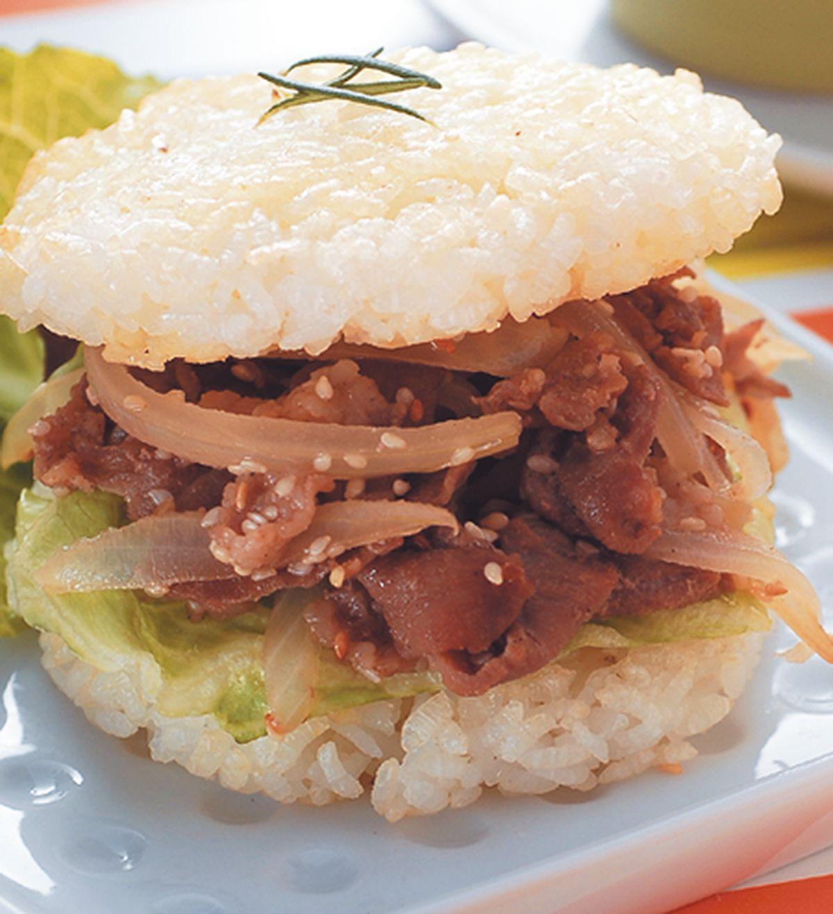 食譜:照燒米漢堡