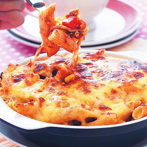 焗烤蘑菇義大利麵