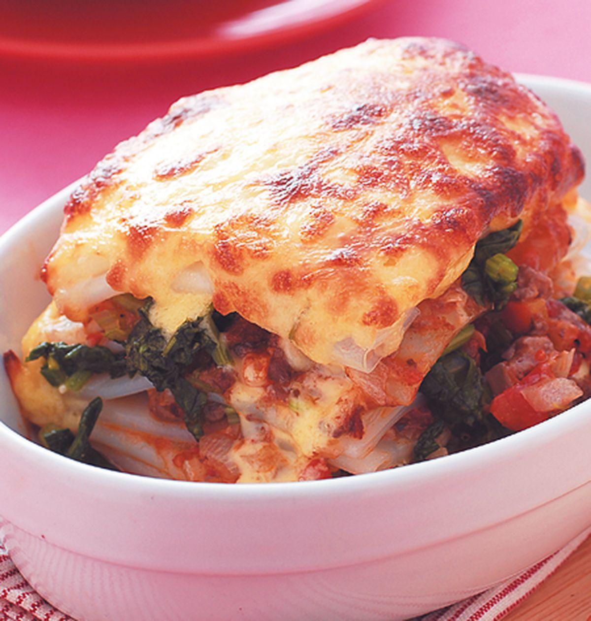 食譜:焗烤肉醬菠菜千層麵