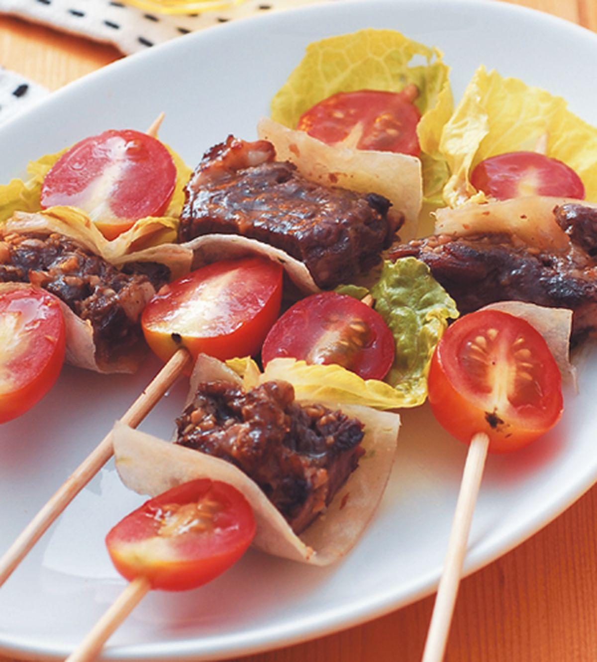食譜:蕃茄牛肉串燒