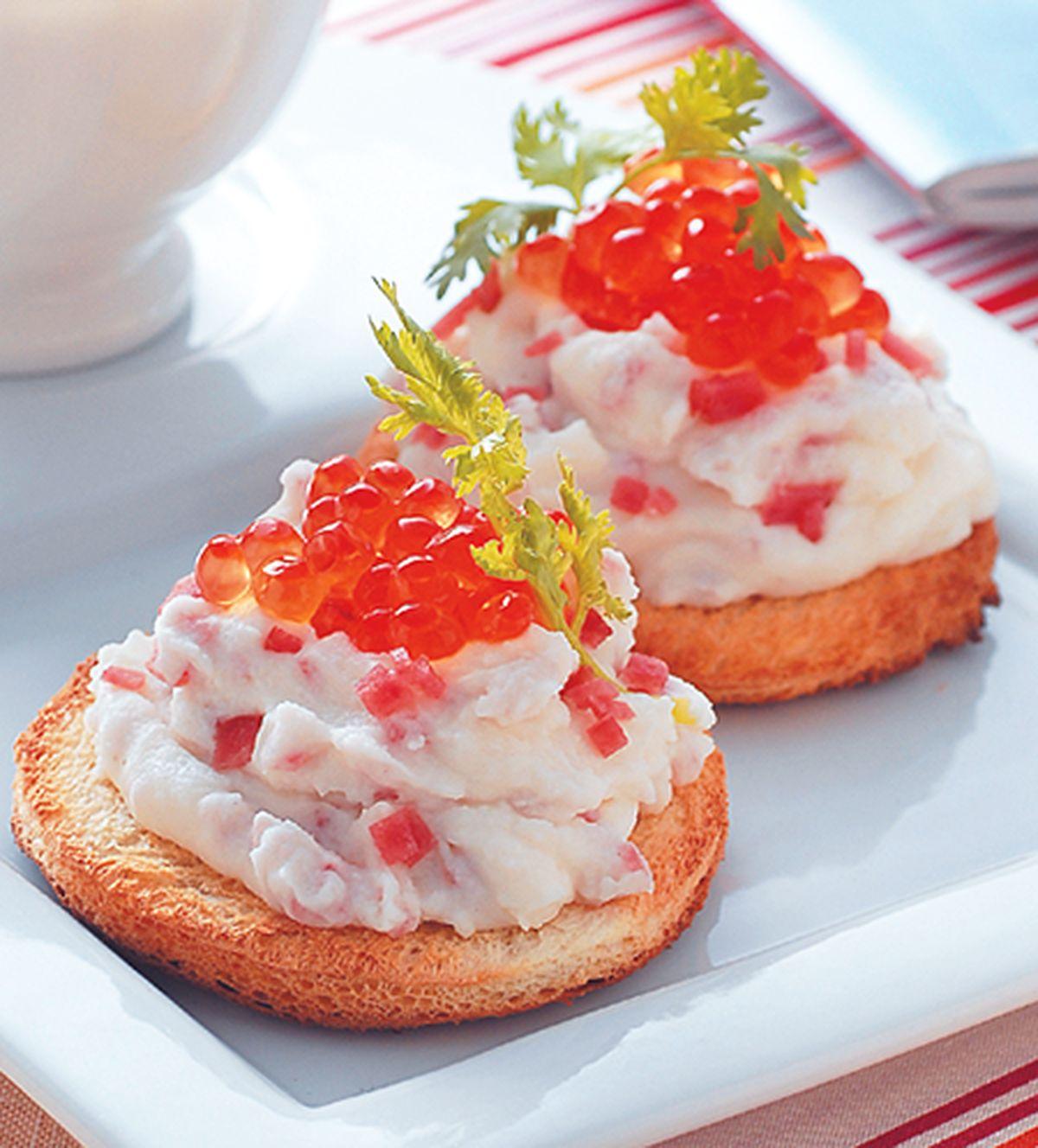 食譜:鮭魚卵餅堡