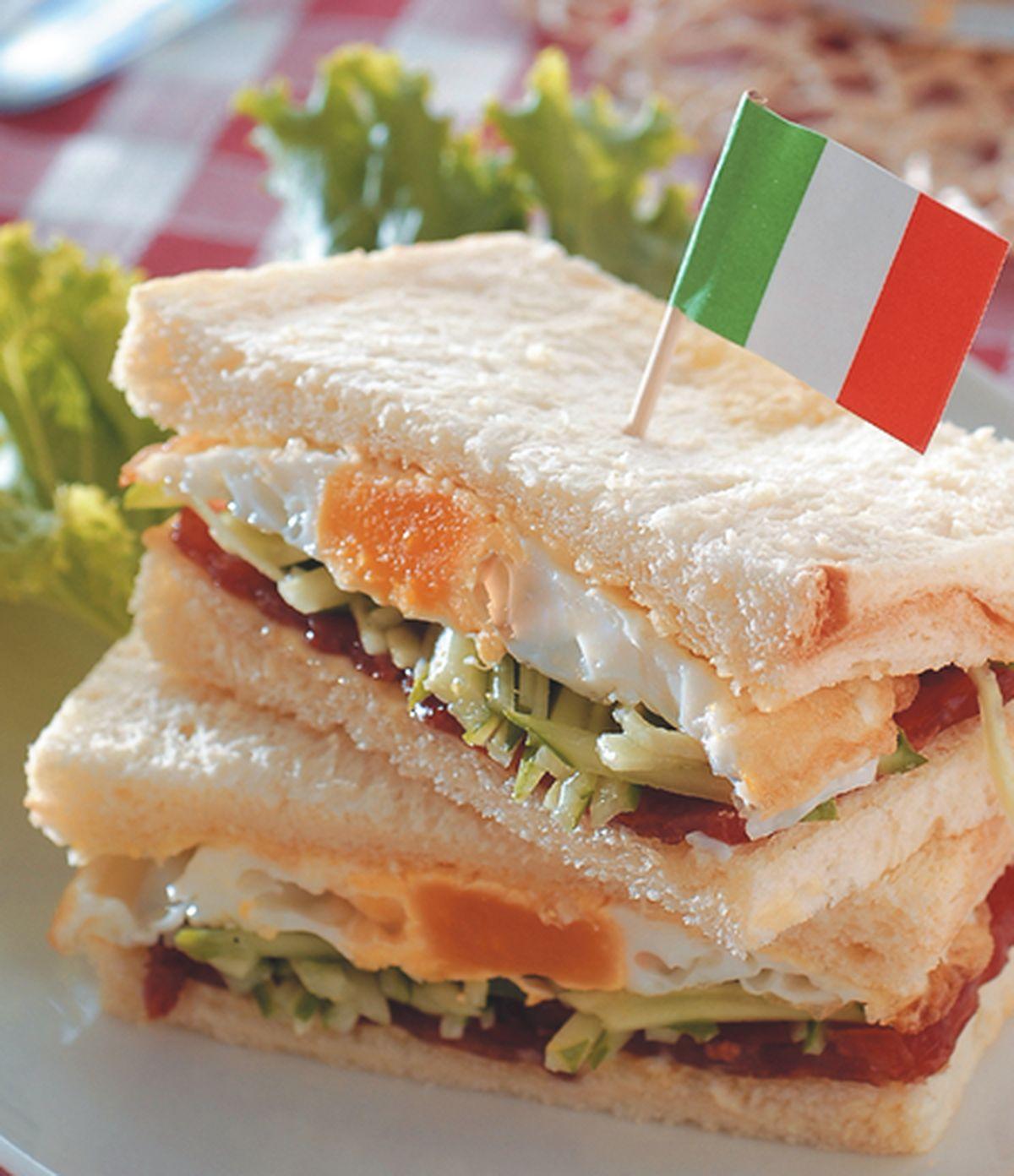 食譜:火腿三明治
