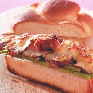 蘆筍乳酪烤堡
