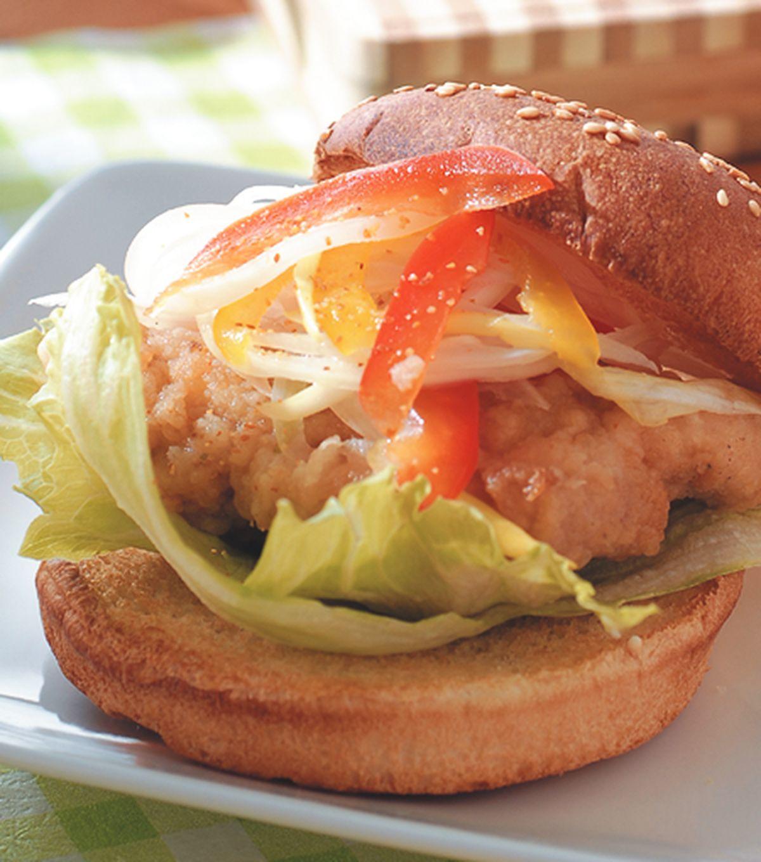 食譜:南蠻雞堡