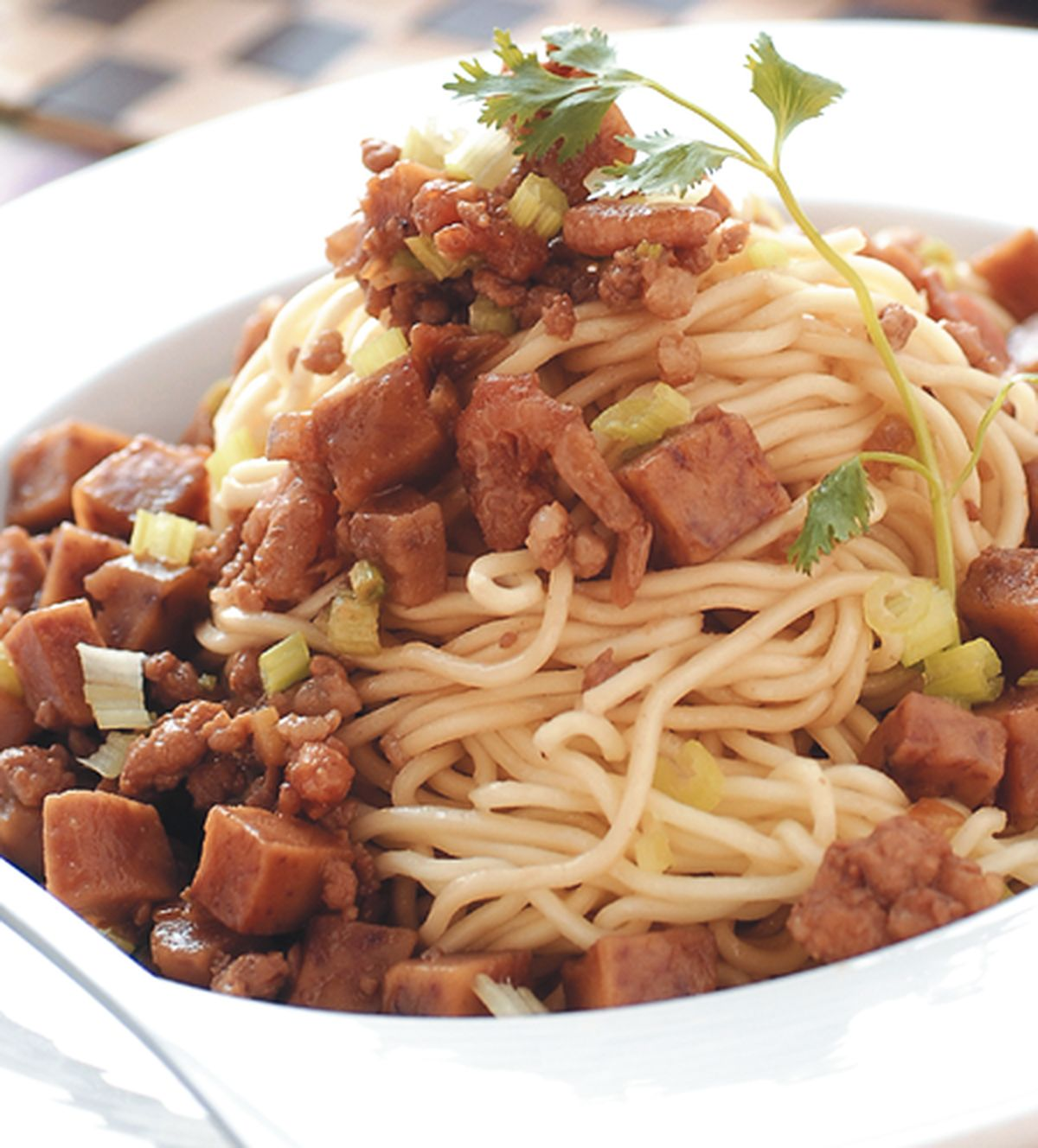 食譜:芋香肉醬麵