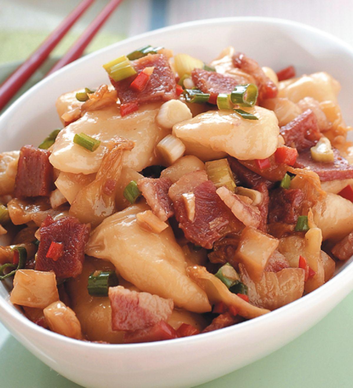食譜:培根酸菜醬麵