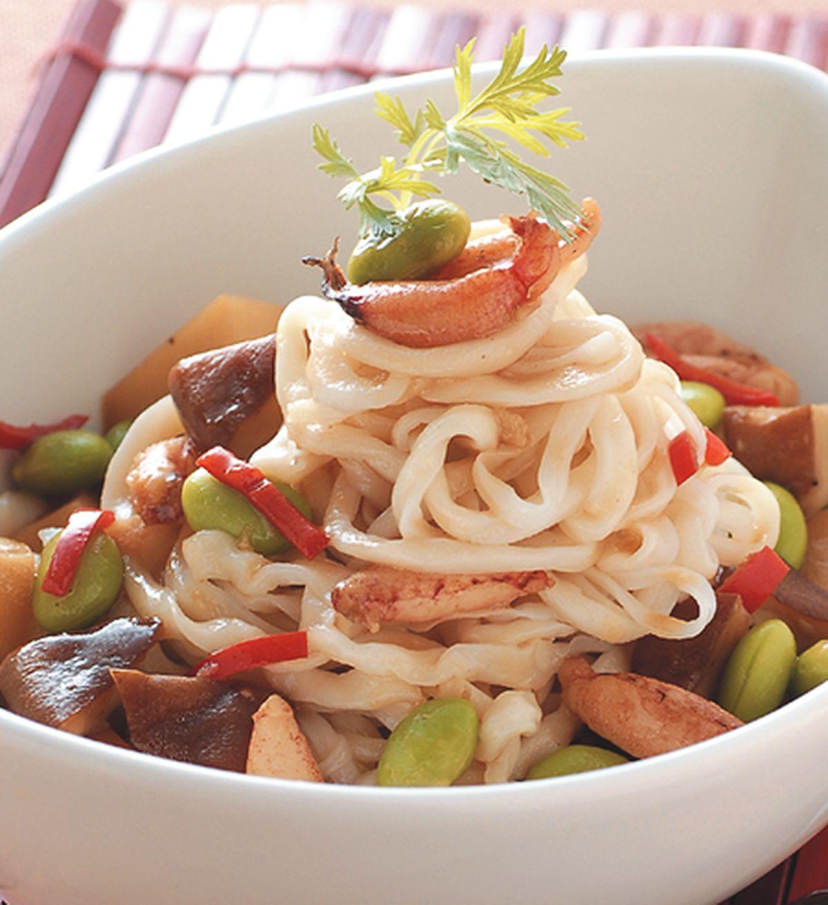 食譜:毛豆蟹肉醬麵