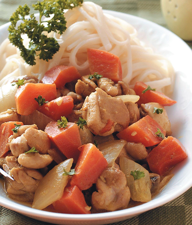 食譜:咖哩雞肉醬麵