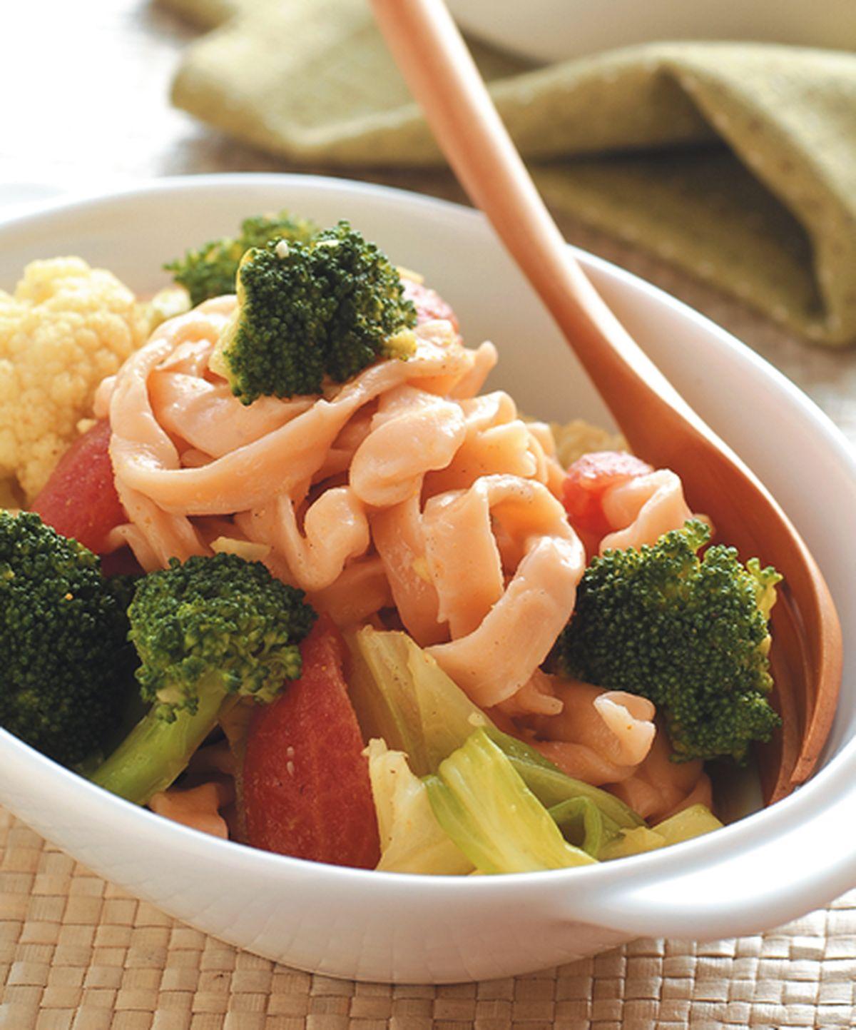 食譜:蔬菜咖哩醬麵