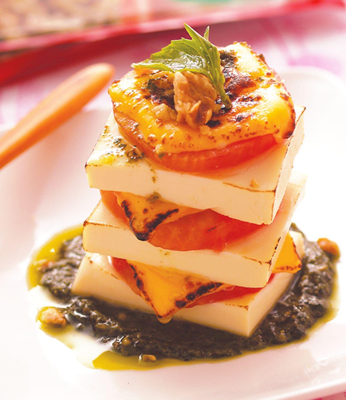 食譜:焗烤蕃茄豆腐青醬