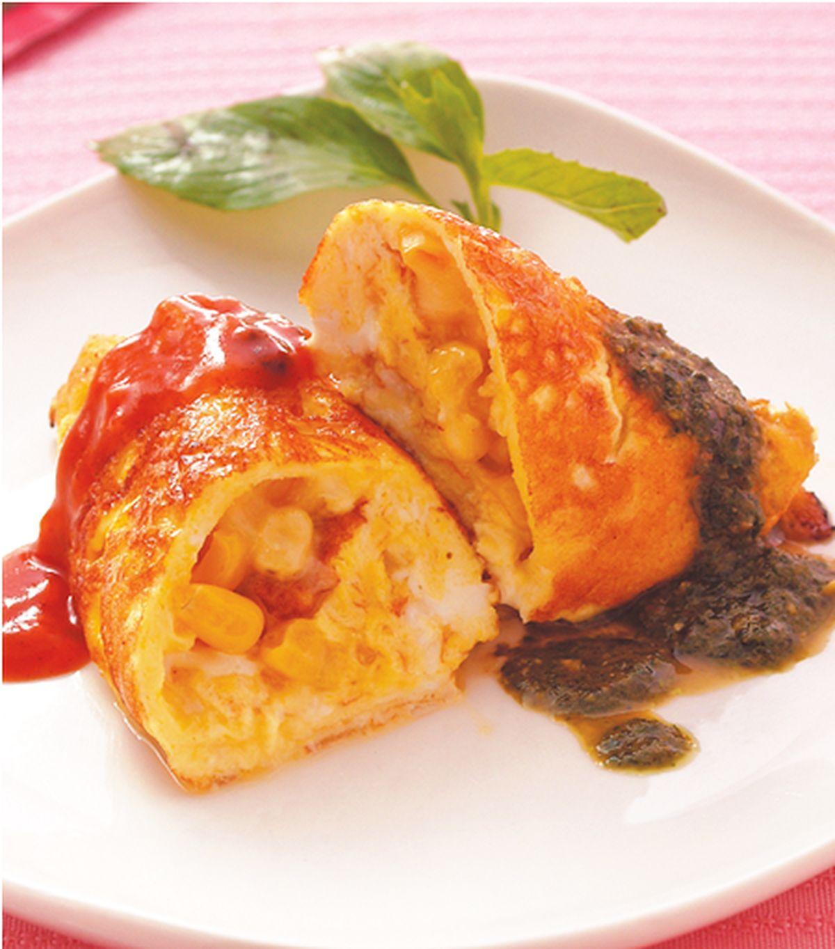 食譜:玉米起司蛋捲