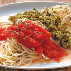 雙色蕃茄義大利麵