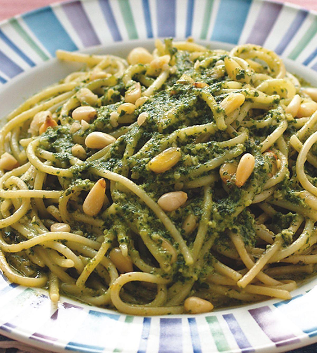 食譜:松子青醬義大利麵(1)