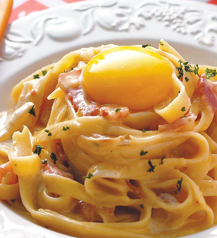 食譜:培根蛋奶麵