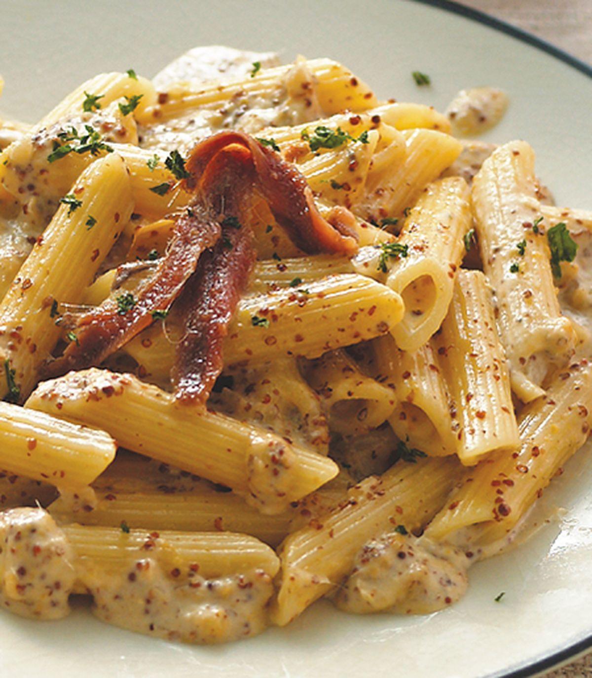 食譜:鯷魚芥籽醬斜管麵
