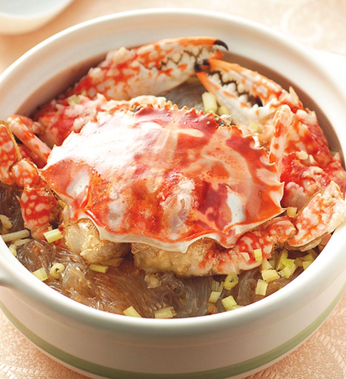 食譜:花蟹粉絲煲
