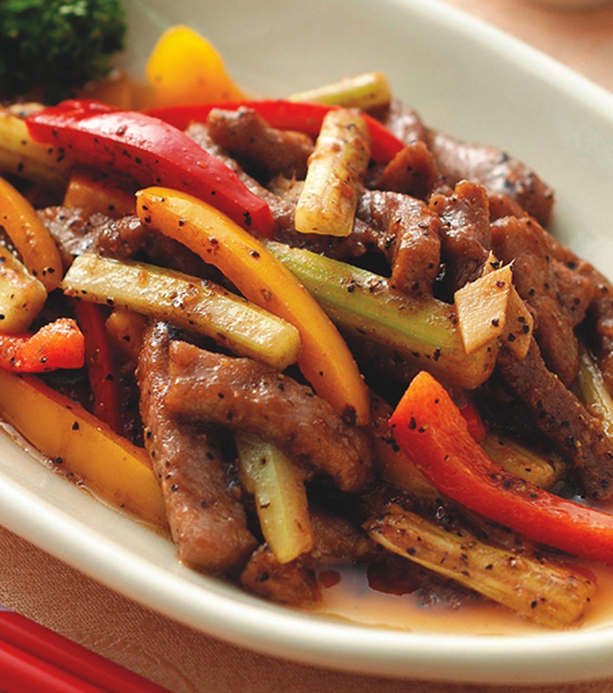 食譜:沙茶黑椒牛柳