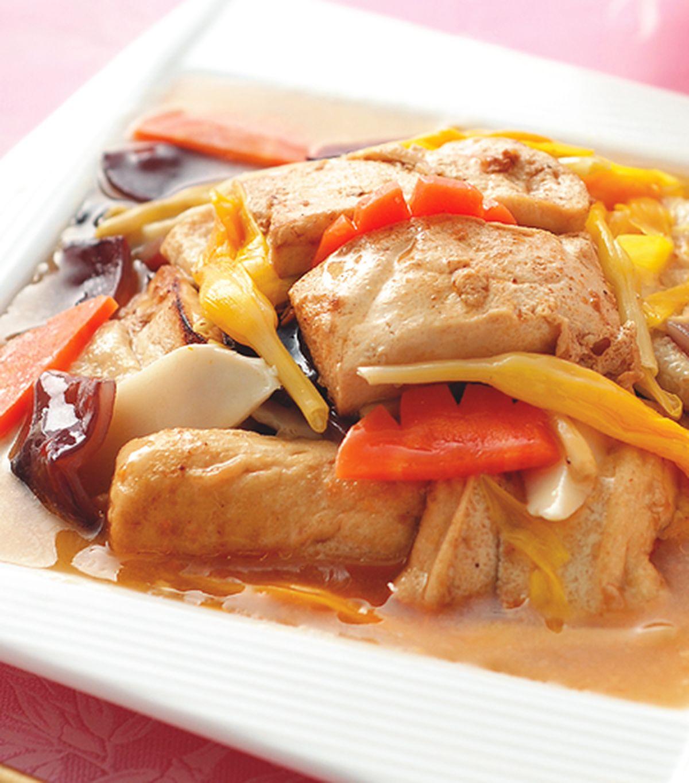 食譜:沙茶羅漢燒豆腐