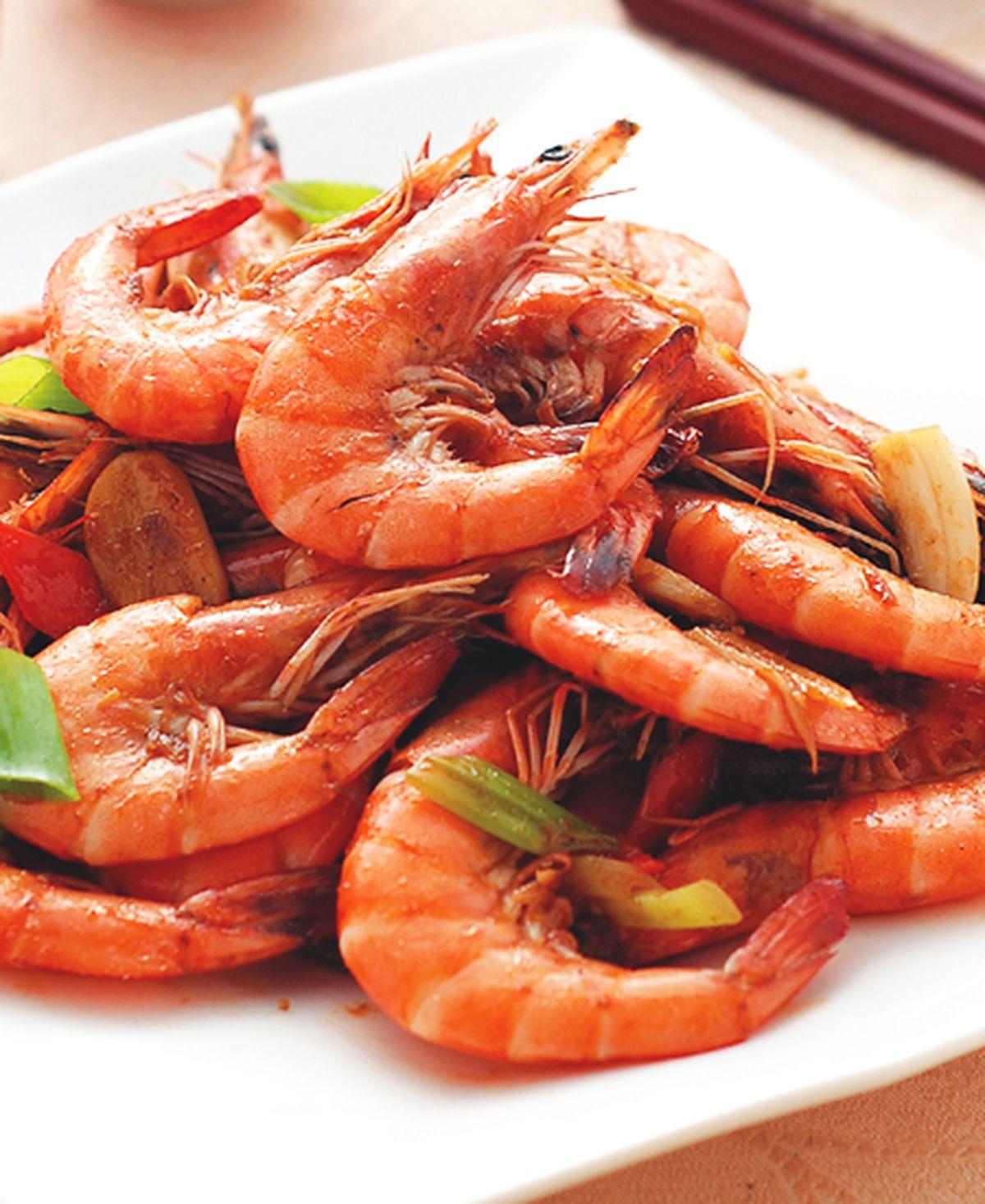 食譜:熱炒大蝦