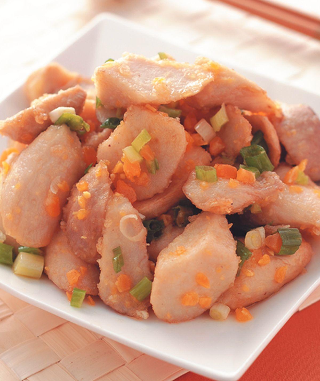 食譜:金沙杏鮑菇