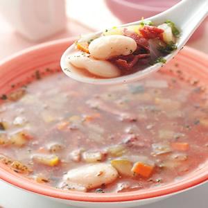 培根白豆野菜湯