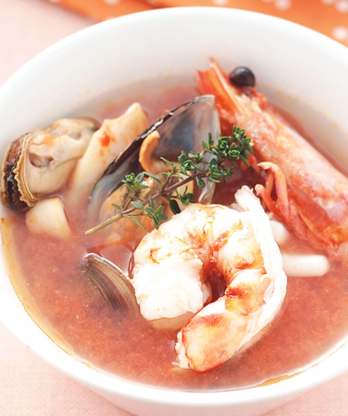 食譜:法式蕃茄海鮮湯